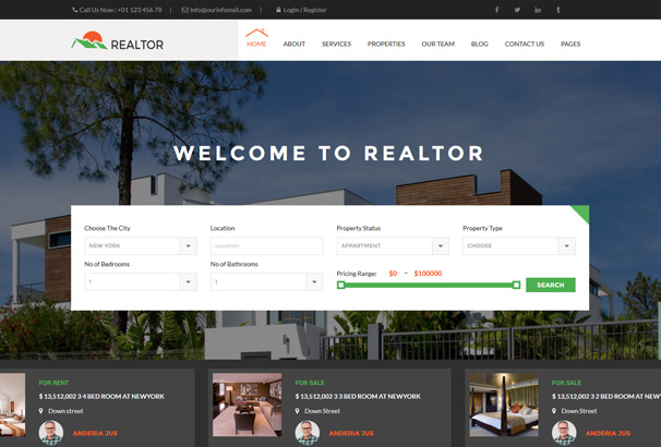 wordpress themes for real estate agents