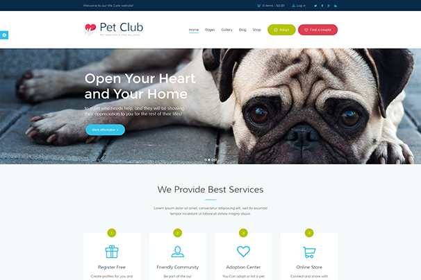 Pet Club - Services, Adoption, Dating & Community
