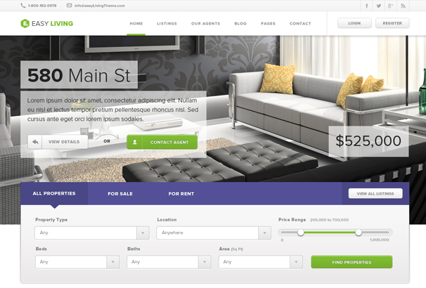 website templates for real estate
