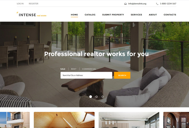 60 best html real estate website templates 2017 intense real estate website template pronofoot35fo Image collections