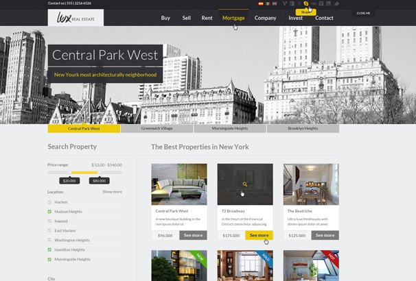 Lux Is A Pixel Perfect Clean And Elegant Real Estate Html Template To Or Rent Your House Loft Apartment Etc
