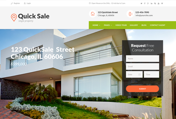 Beau Quick Sale HTML Theme Is Premium Site Template Crafted Both For Real Estate  Agencies And Property Owners. For Sale By Owner Trend Getu0027s More Popular ...
