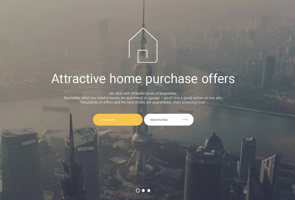 60 best html real estate website templates 2017 the images there are arranged in masonry style and supplied with hover effects built in google map and social media icons are also available on the home pronofoot35fo Image collections