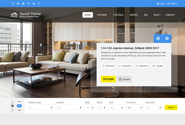 60 best html real estate website templates 2017