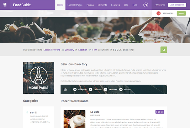 60 best directory wordpress themes updated for 2018 food guide cheaphphosting Choice Image