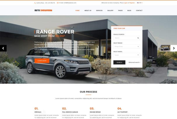 50+ Best Car & Automotive WordPress Themes 2019