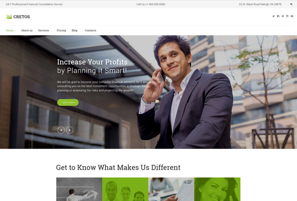 It Was Exclusively Made For An Advisory Business Consulting Finance And Investment Services A Variety Of Blog Layouts Allow You To Add Multiple Types