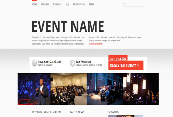50+ WordPress Event & Conference Themes 2019