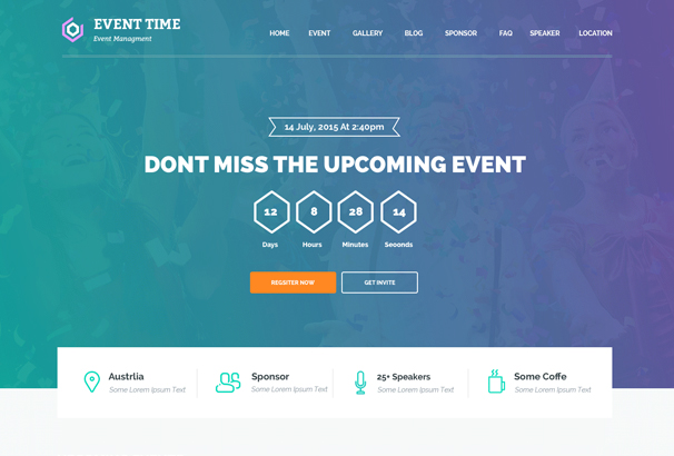 50+ WordPress Event & Conference Themes 2018