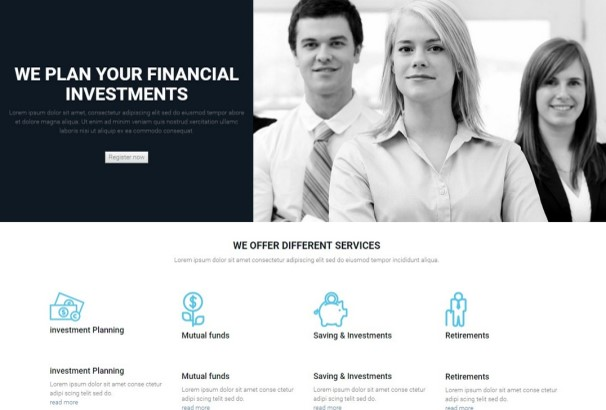 50 best financial company wordpress themes 2017 finance group multi purpose wordpress template features a fully responsive framework that looks fantastic on any mobile device and retina display ready maxwellsz