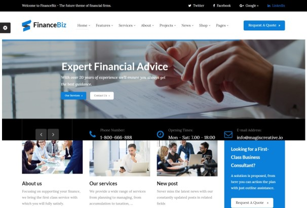 50 best financial company wordpress themes 2017 we developed this theme with business in mind and understand each elements will create the best product that works for you cheaphphosting Gallery