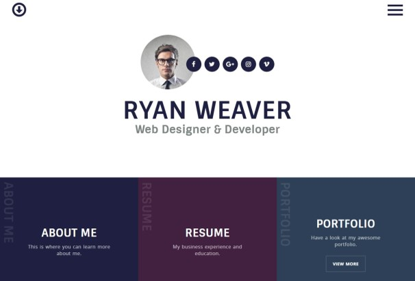 using this unique wordpress vcard template for your online resume could set you apart from your competition - Online Resume