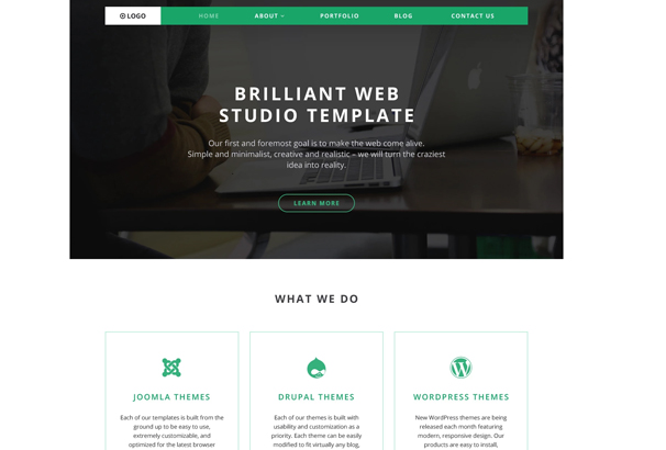 if page template wordpress - 50 best portfolio wordpress themes updated for 2018