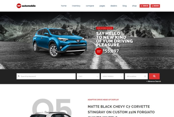 50+ Best Car & Automotive WordPress Themes 2017