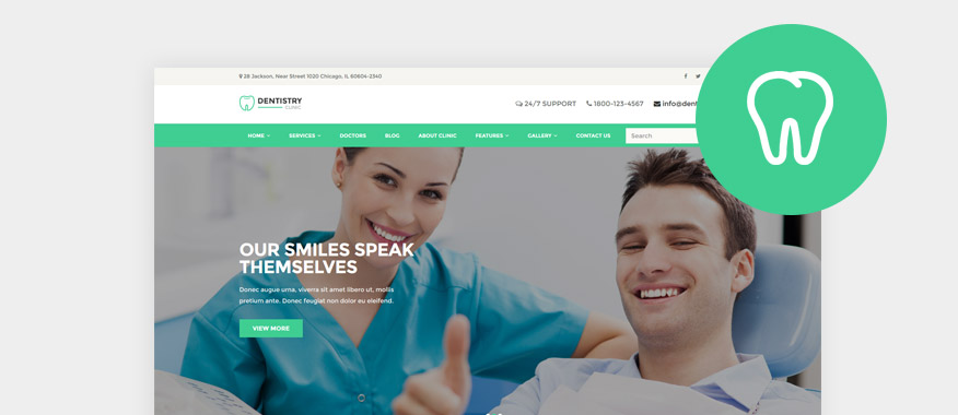 Top Dentist WordPress Themes