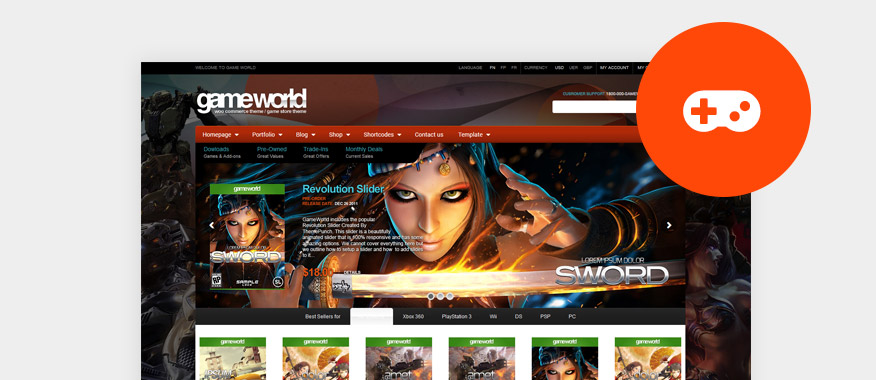 Video Games WordPress Themes