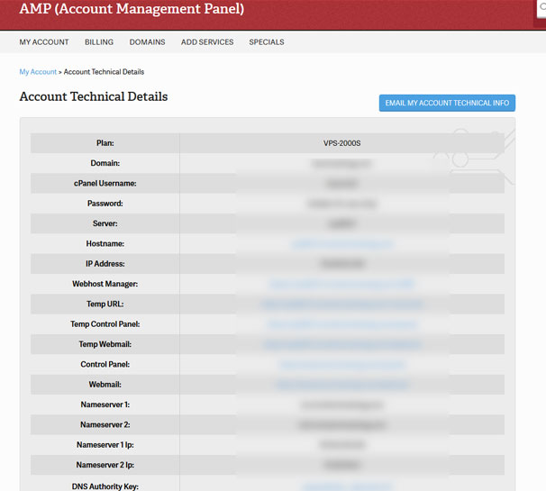 Account Technical Details