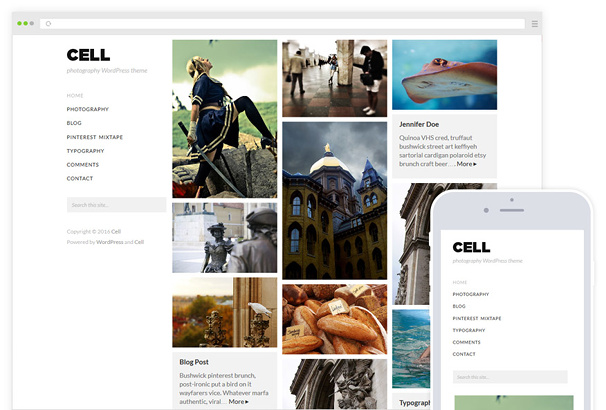 Cell WordPress Theme