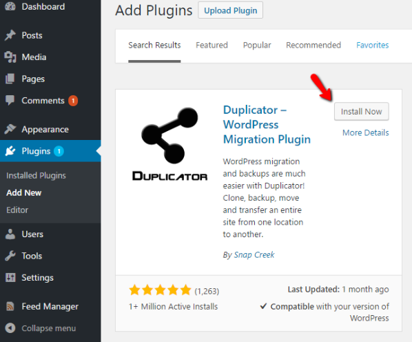 how to migrate wordpress with duplicator