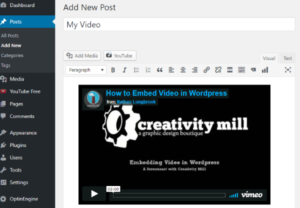 Complete Guide to using Video in WordPress: Embedding YouTube, Vimeo