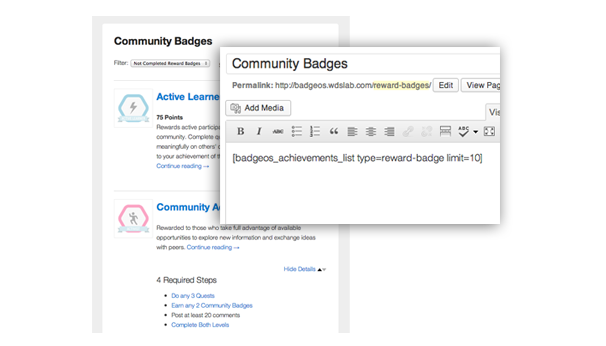 BadgeOS WordPress Plugin