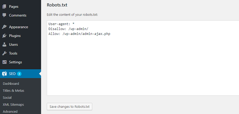creating robots.txt file