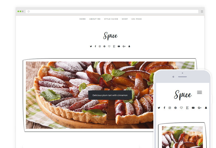 Spice Food Blog Theme
