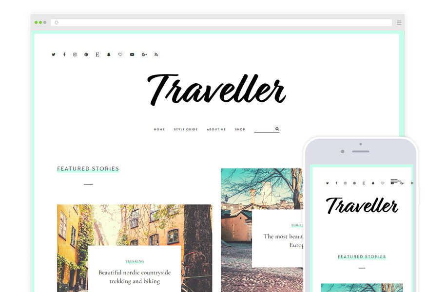 Traveller - Travel Blog Theme