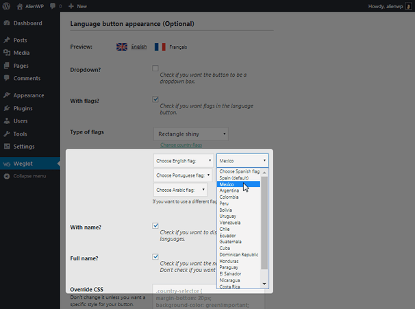 Weglot - Language Button Appearance